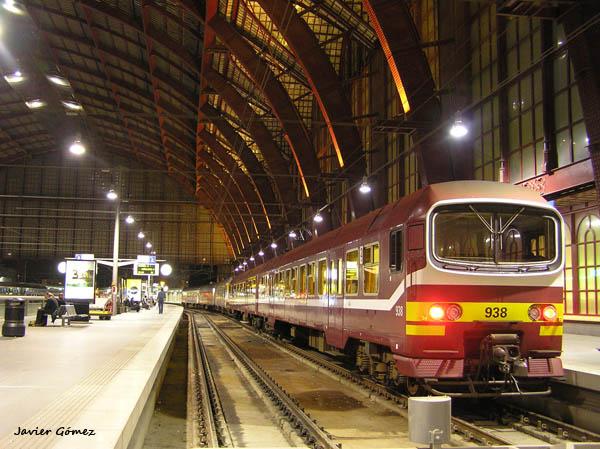 Desplazándose en tren por Bélgica