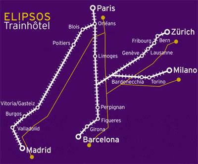 rutas del elipsos trenhotel