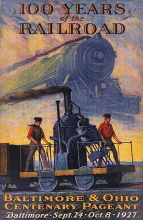 cartel 100 anos de tren