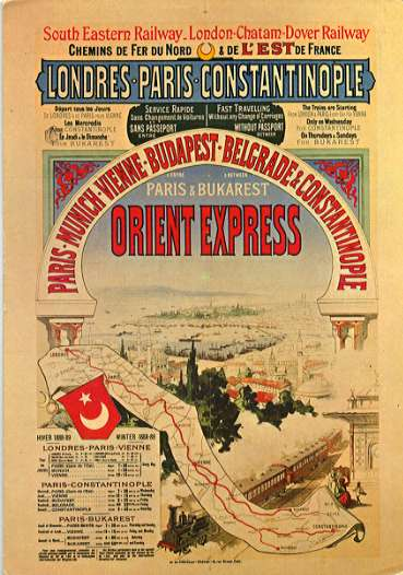 cartel antiguo del orient express