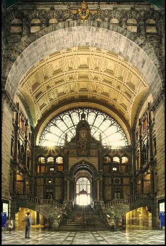 Estación Central de Amberes, en Belgica