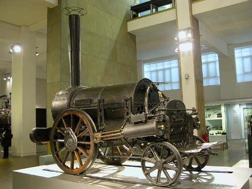 La locomotora Rocket de Stephenson