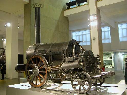 La locomotora Rocket de Stephenson