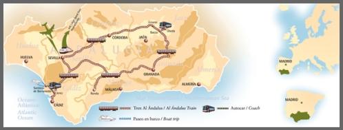 Itinerario ruta del Al Andalus 2012