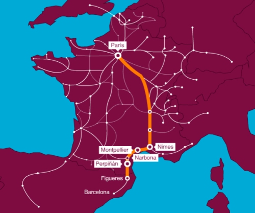 trayectos TGV