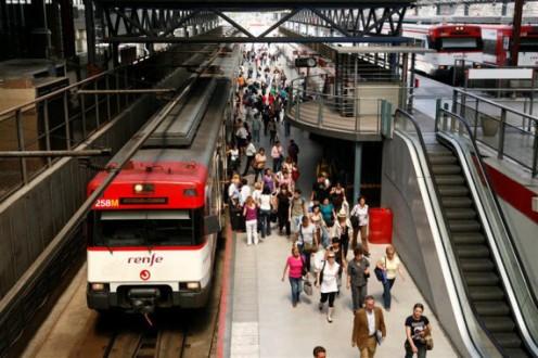 Tren de cercanias en Madrid