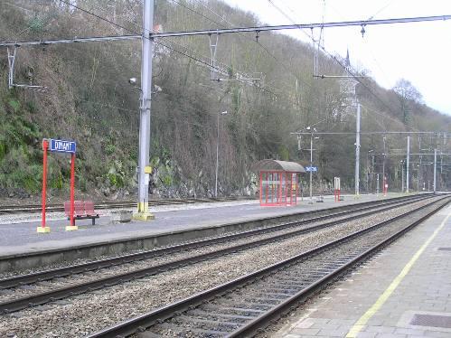 Desde el tren de Bruselas a Dinant