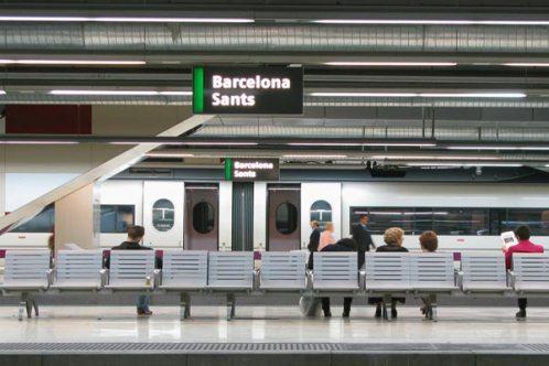 La estación de Sants en Barcelona