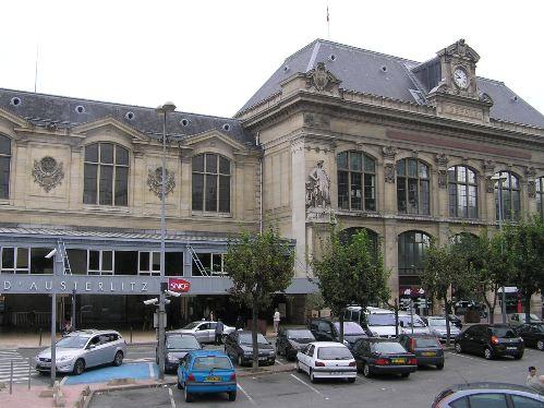 La estación de tren de París Austerlitz