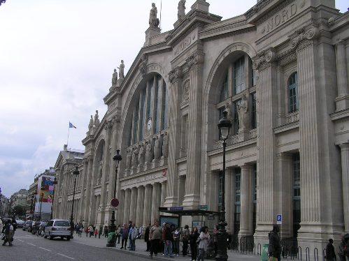 La estación Gare du Nord, del Norte, en París