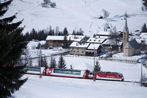 El Glaciar Express, típico tren suizo