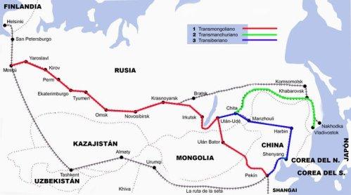 Entre el transiberiano, el transmanchuriano y el transmongoliano
