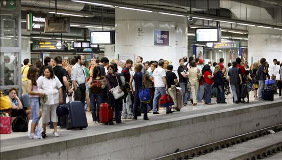 pasajeros en espera