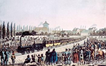 El primer tren alemán, Nuremberg-Fürth
