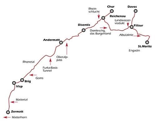 ruta del Glaciar Express