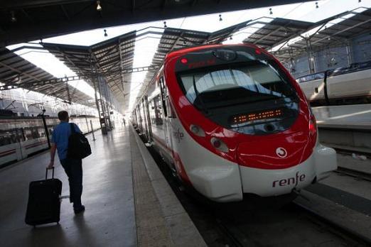 El tren de cercanías a Fuengirola, en Málaga
