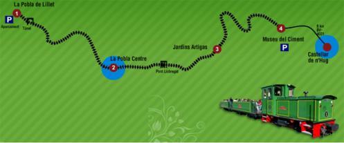 El Tren del Ciment, turístico ferrocarril del Alto Llobregat