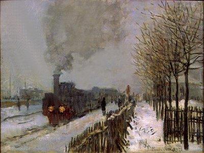 tren-en-la-nieve-de-claude-monet