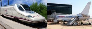 tren y avion