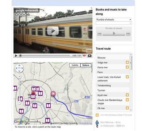 Viaje virtual en el Transiberiano con Google